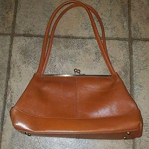 HOBO tan leather purse